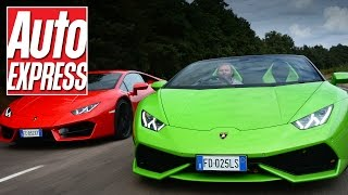 Huracan vs Huracan: Lamborghini's LP610-4 Spyder and LP580-2 Coupe go head-to-head!