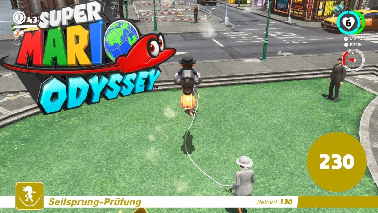 super mario odyssey jump rope challenge 100 jumps easy youtube