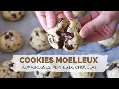 recette-cookies-moelleux-aux-grosses-pÉpites-de-chocolat- -facile-et-rapide