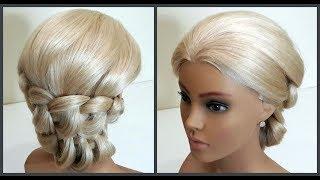 Гениальная Красивая прическа с Легким и Быстрым плетением.Подробное видео.Hairstyle with Light Weave