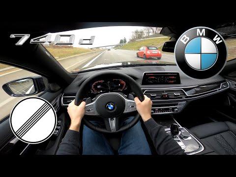 2020 BMW 740d XDrive | Test Drive On German No Limit Autobahn