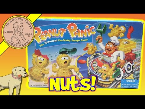 Peanut Panic The Pea-Nutty Escape Family Board Game - Parker Brothers