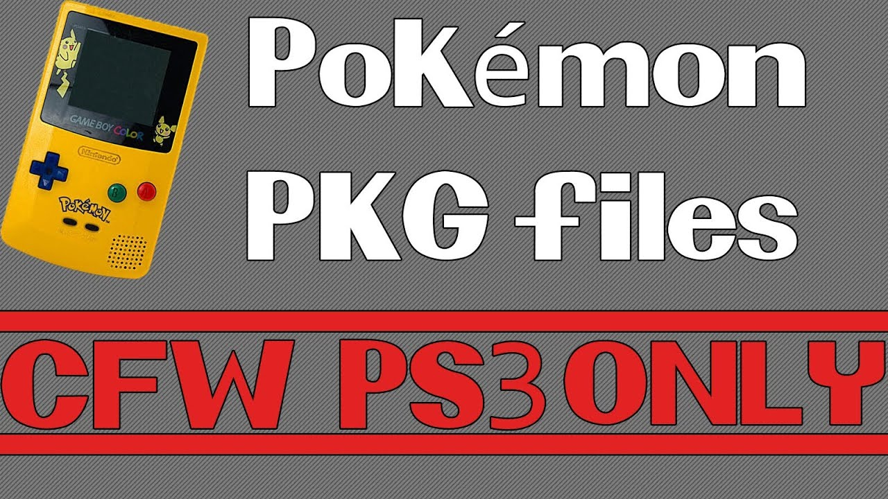 Games For Ps3 Only : How to play pokémon games on your ps cfw only youtube