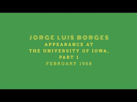 Jorge Luis Borges appearance at the University of Iowa - February 1968