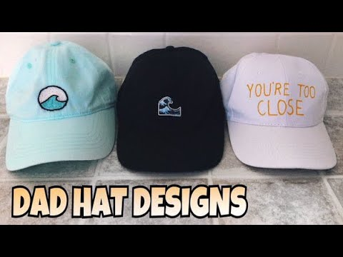 DIY CUSTOM DAD HATS // Embroidered + more