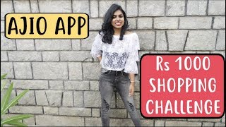 Ajio App Rs 1000 Shopping Challenge  - How to Shop for Cheap & Good Products from Ajio.com|AdityIyer