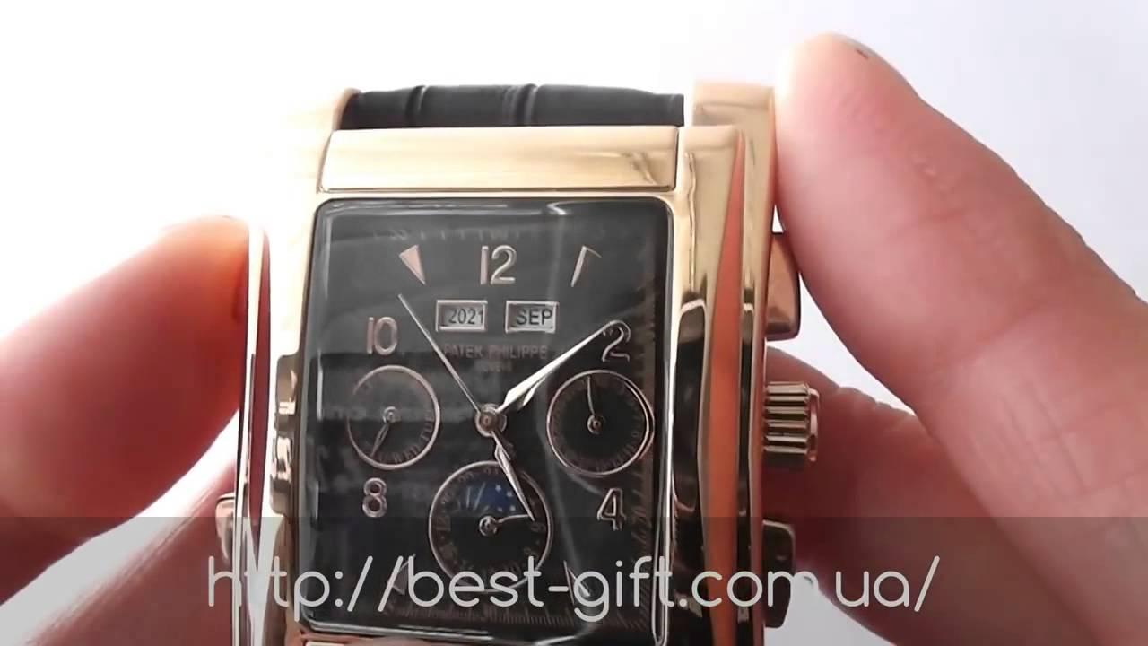 Часы Patek Philippe Nautilus механические копия - YouTube