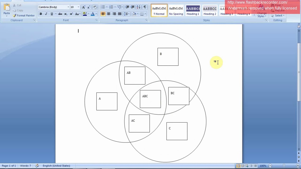 Draw A Venn Diagram On Word