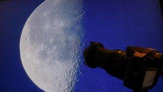 Panasonic Lumix DMC FZ-300 - Zooming into the Moon [4k]