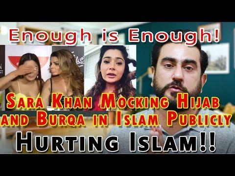 Play Sara Khan Mocking Hijab  and Burqa in Islam Publicly | TERE JISM,  BLACK HEART, MUSLIM BURKA