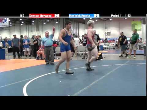 Men 160 - Spencer Heywood vs. Dominick Huerta