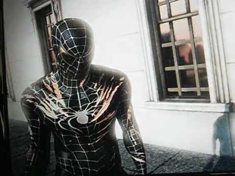 The Amazing Spider-Man Video Game Black Suit Battle Damage - YouTube