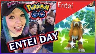 56 SHINY ENTEI RAIDS!! ENTEI DAY HIGHLIGHTS in POKÉMON GO!