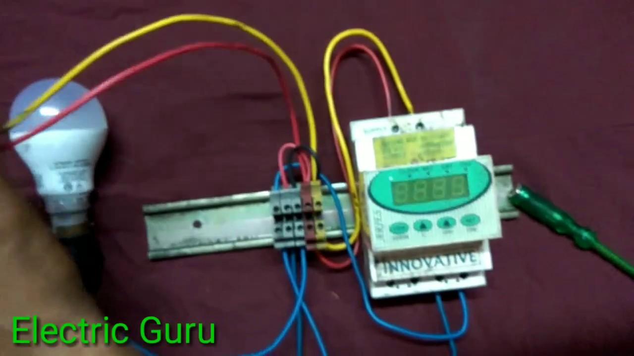 street light timer ke connection kaise karte hai electric guru [ 1280 x 720 Pixel ]