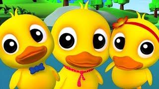 Cinco patos pequenos | rimas de berçário para crianças | Kids Songs | Five Little Ducks Going Out thumbnail