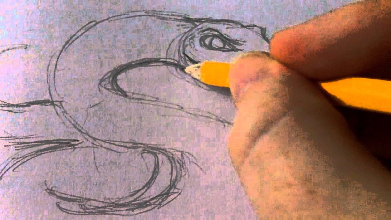 Drawing A Snake Tattoo Art Idea YouTube