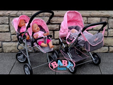 baby-born-twin-jogger-&-duplex-pram-dolls-pram-stroller-baby-annabell-baby-dolls