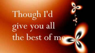 Best of me - Chrisette Michele (Lyrics)