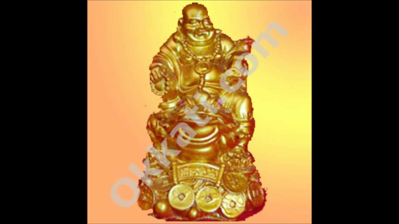 Golden Laughing Buddha 2 Gift Articles Birthday Wedding Gifts To