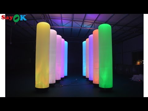 LED inflatable pillar for advertising, party, wedding, stage, event, rental business decoration