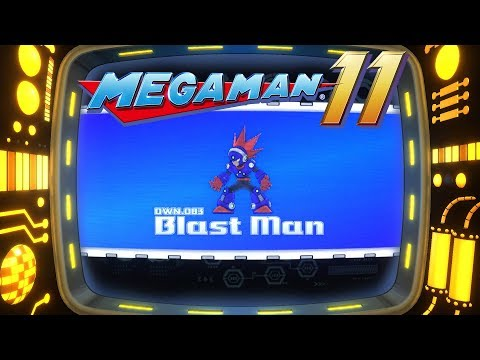 Mega Man 11 - BlastMan Stage - First Live Gameplay!
