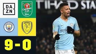 Gabriel Jesus und Leroy Sane zaubern: Manchester City - Burton 9:0 | Carabao Cup | DAZN Highlights