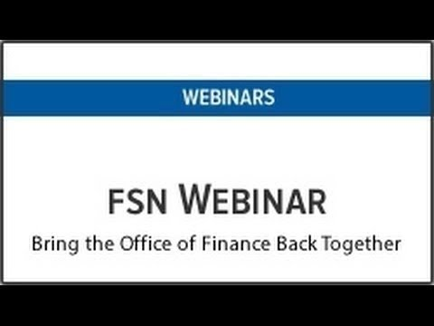 OneStream Software Webinar - Bring the Office of Finance Back Together
