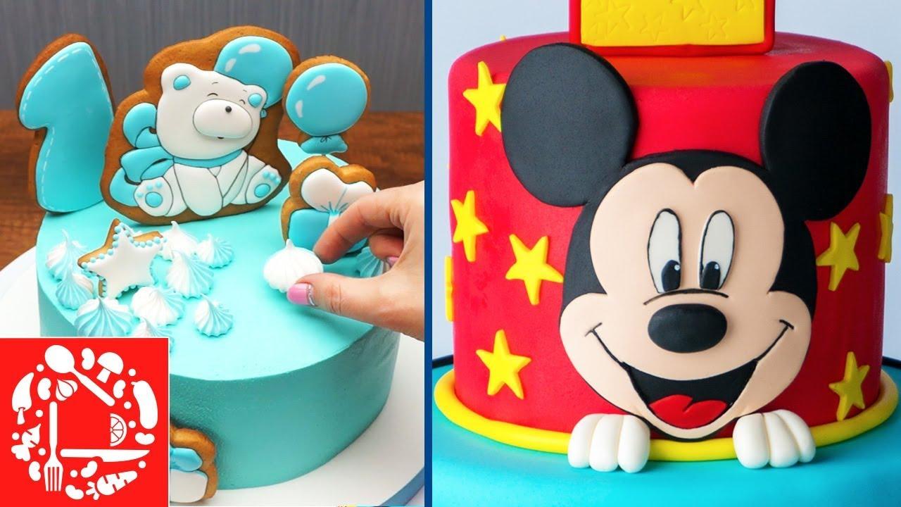 Топ 5 украшений Торта для Мальчика! Как красиво украсить ...