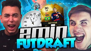 FIFA 16 - CRAZY 2 MINUTE FUT DRAFT!! (FIFA 16 2 PLAYER DRAFT)