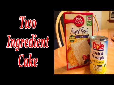 Two Ingredient Cake ~ Simple and Delicious!