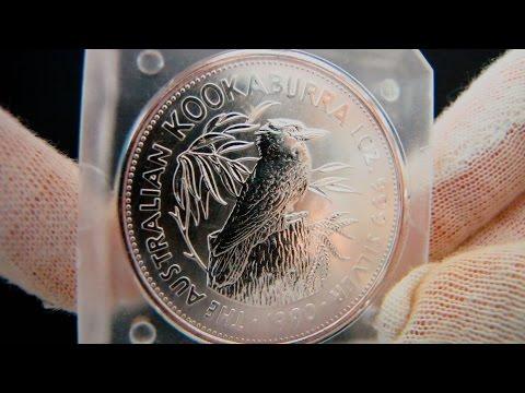 [HD] 1990 Australian Kookaburra - 1 oz Silver Coin - Perth Mint