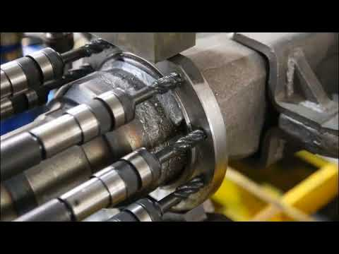 Special machine drilling and tapping combined for Axle