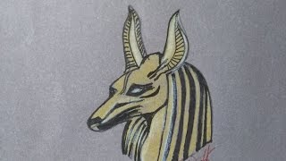 Como dibujar a Anubis para hacer tatuaje, how to draw Anubis to tattoo, как рисовать Анубиса