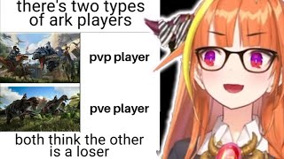 Coco reviews the meme about PVP player VS PVE player【Hololive/Eng sub】