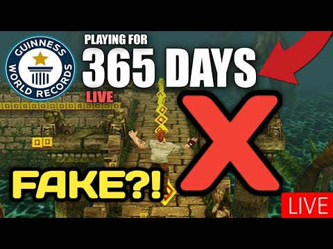 FAKE?! Playing Temple Run For 1 Year (World Record) Biggest Scam On YouTube *Exposed* Part2