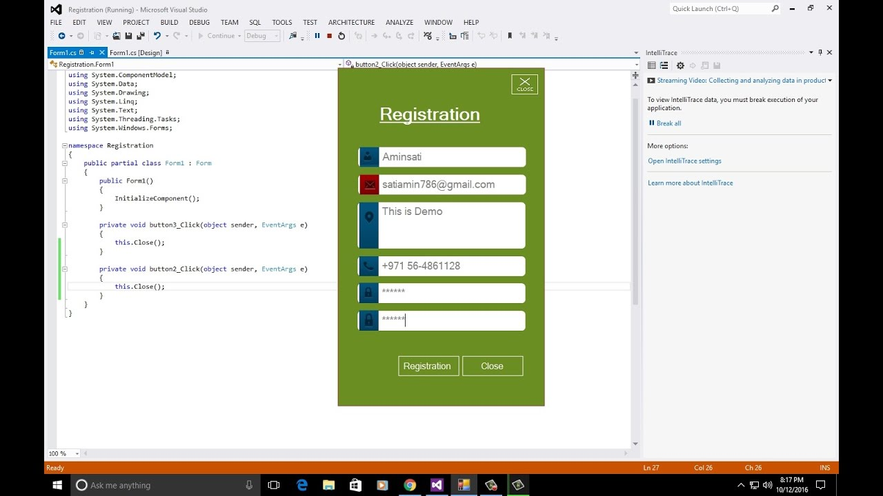 How to create simple registration form design in csharp visual how to create simple registration form design in csharp visual studio 2012 step by step falaconquin
