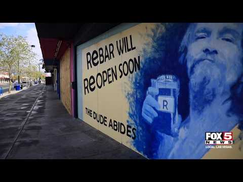 Downtown Las Vegas In The Wake Of Gov. Sisolak's Order For Nonessential Businesses To Close