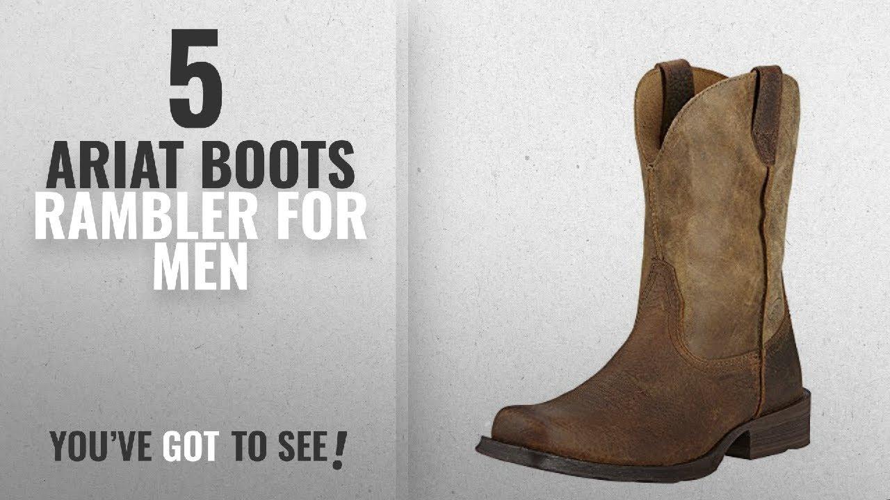 361229504d9 Top 10 Ariat Boots Rambler [ Winter 2018 ]: Ariat Men's Rambler Wide Square  Toe Western Cowboy Boot,