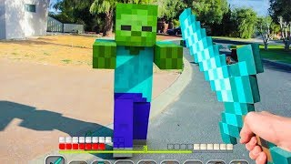 MINECRAFT DANS LA VRAIE VIE ! (animations)