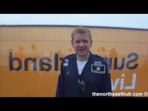 Sunderland Airshow 2013 interview with James Walker (Black Cats Helicopter Team)