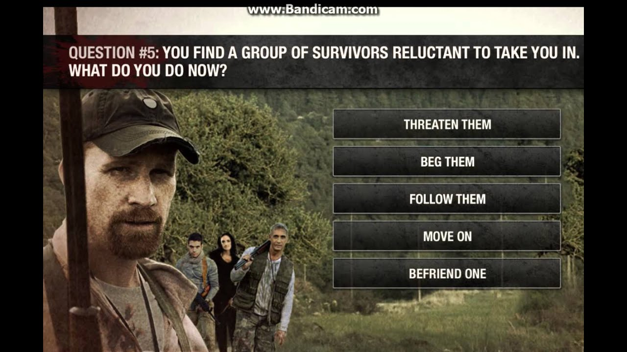 The Walking Dead Zombie Survival Quiz How Long Will You