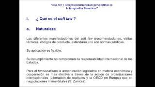 soft law Manuel Monteagudo - INTRO AL DIE