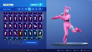 *UPDATED* Fortnite Rabbit Raider Skin Outfit Showcase with All Dances & Emotes