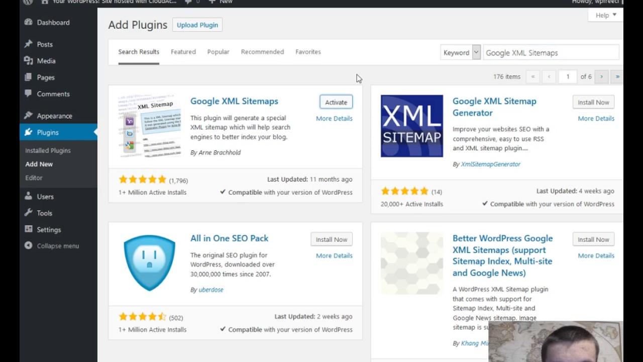 tutorial 2 how to install google xml sitemap wordpress plugin youtube