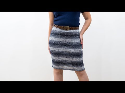 How to Sew a Knit Pencil Skirt - Pattern and Assembly