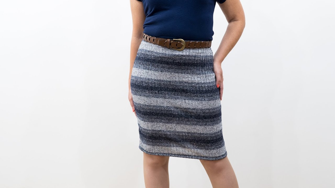 How to Sew a Knit Pencil Skirt - Pattern and Assembly - YouTube