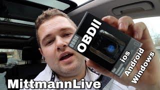 MittmannLive OBD 2 Bluetooth 4.0 mini Diagnosegerät ios Android Windows