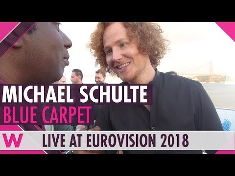 Michael Schulte (Germany) @ Eurovision 2018 Red / Blue Carpet Opening Ceremony