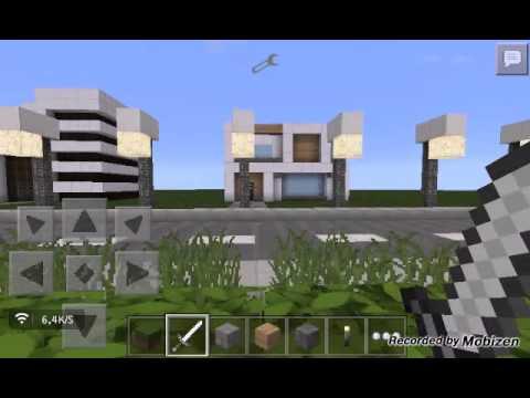 Minecraft pe minha cidade moderna youtube for Casa moderna minecraft 0 10 4