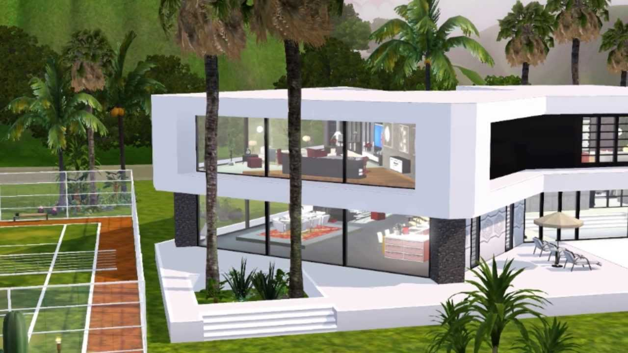 The sims 3 ultra modern mansion youtube